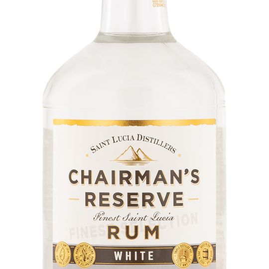 Personalised Chairman's Reserve White Label Rum 70cl engraved bottle