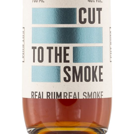 Personalised Cut Real Smoked Rum 70cl Engraved Golden Rum engraved bottle