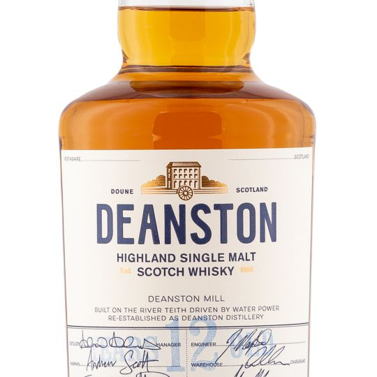 Personalised Deanston 12 Year Old 70cl Engraved Single Malt Whisky engraved bottle