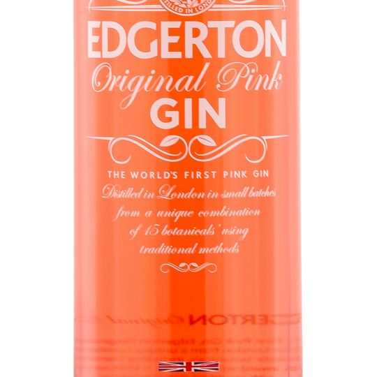 Personalised Edgerton Pink Gin 70cl engraved bottle