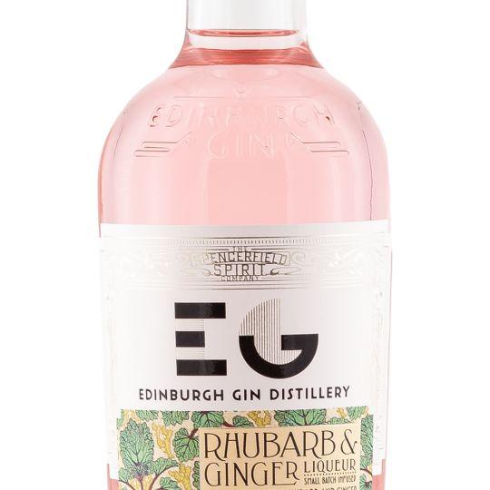 Personalised Edinburgh Rhubarb and Ginger Gin Liqueur 50cl engraved bottle