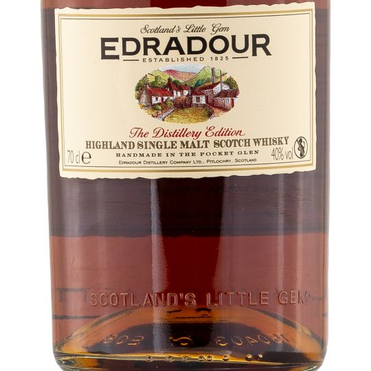 Personalised Edradour 10 Year Old 70cl Engraved Single Malt Whisky engraved bottle