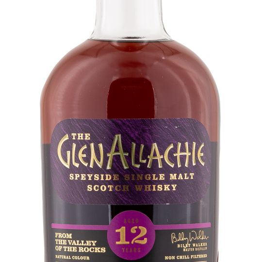Personalised Glenallachie 12 Year Old Speyside 70cl Engraved Single Malt Whisky engraved bottle