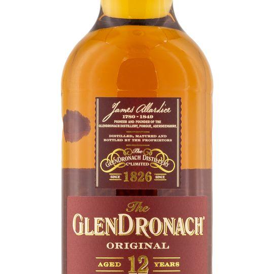 Personalised Glendronach original 12 70cl Engraved Whisky engraved bottle