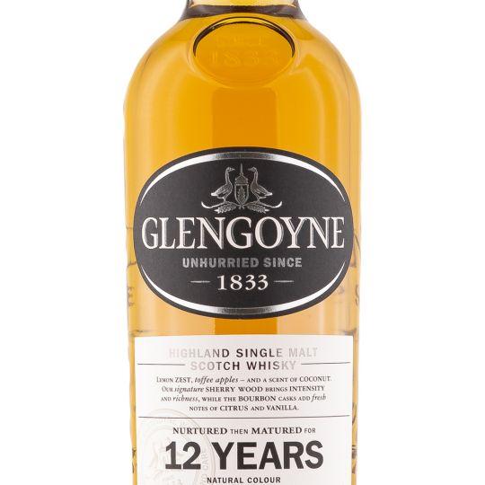 Personalised Glengoyne 12 Year Old Highland 70cl Engraved Single Malt Whisky engraved bottle