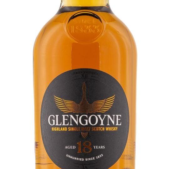 Personalised Glengoyne 18 Year 70cl Engraved Single Malt Whisky engraved bottle