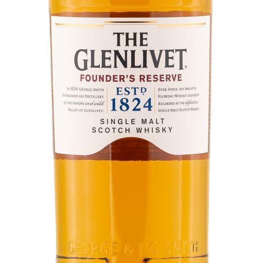 Personalised Glenlivet Founders Reserve Whisky 70cl engraved bottle