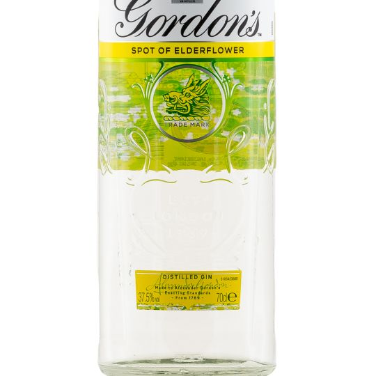 Personalised Gordons Elderflower Gin 70cl engraved bottle