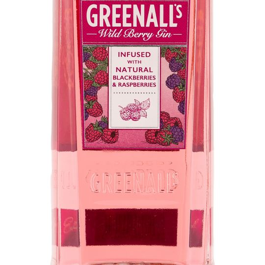 Personalised Greenall's Wild Berry 100cl Engraved Flavoured Gin engraved bottle