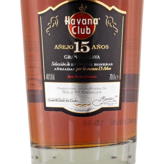 Personalised Havana Club 15 Year Old Rum 70cl engraved bottle