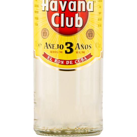 Personalised Havana Club 3 Year Old White Rum 70cl engraved bottle