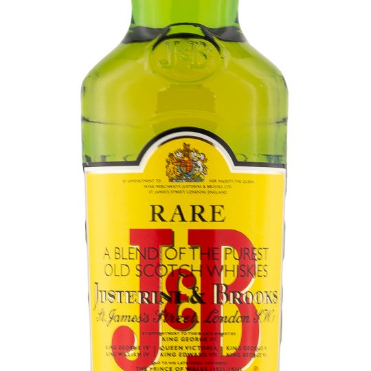 Personalised J&B Rare Blended 70cl Engraved Whisky Liqueurs engraved bottle