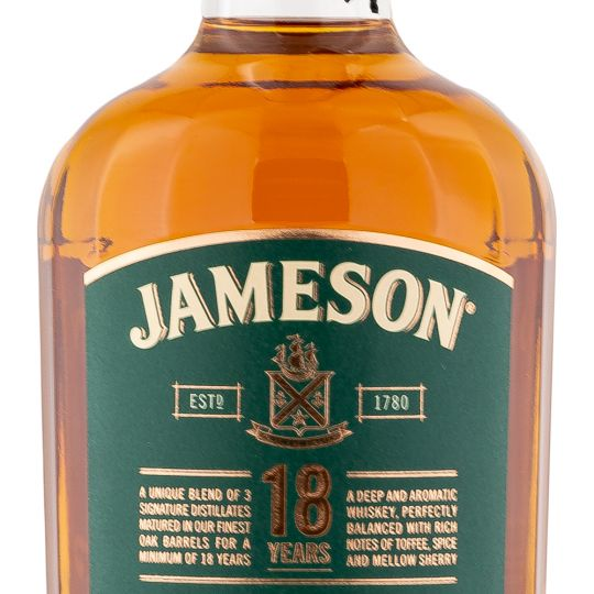 Personalised Jameson 18 Year Old 70cl Engraved Blended Whisky engraved bottle