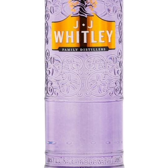 Personalised JJ Whitley Violet Gin engraved bottle