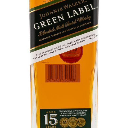 Personalised Johnnie Walker Green Label engraved bottle