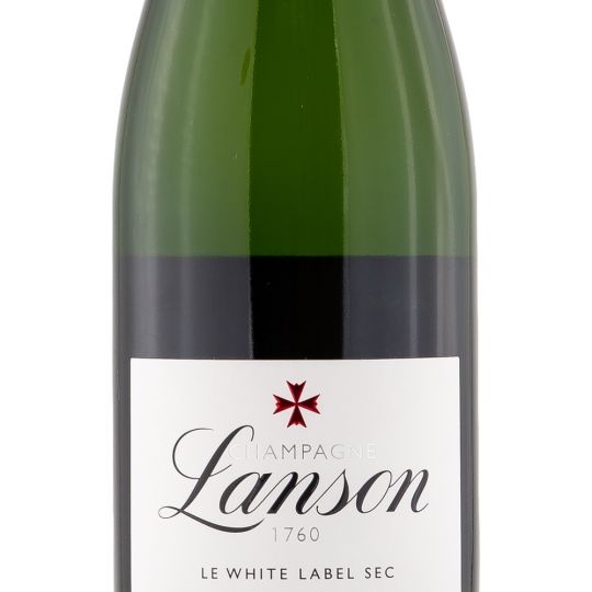 Personalised Lanson Le White Label 75cl Engraved Non-Vintage Champagne engraved bottle
