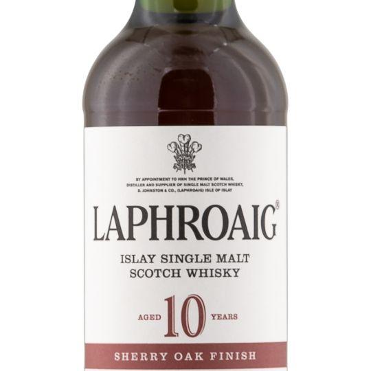 Personalised Laphroaig 10 Year Sherry Oak 70cl Engraved Single Malt Whisky engraved bottle