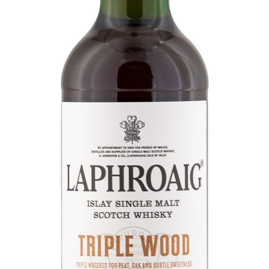 Personalised Laphroaig Triple Wood Whisky 70cl engraved bottle