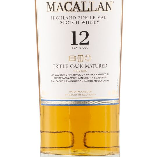 Personalised Macallan 12 Year Old Triple Cask 70cl Engraved Single Malt Whisky engraved bottle