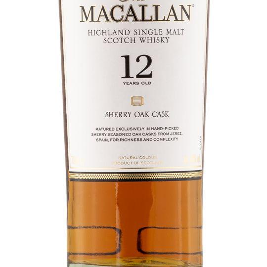 Personalised Macallan 12 Year Sherry Oak 70cl Engraved Single Malt Whisky engraved bottle