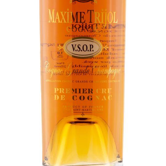 Personalised Maxime Trijol VSOP Grande Champagne Cognac 70cl engraved bottle