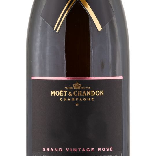 Personalised Moet and Chandon Grand Vintage Rose Champagne 75cl engraved bottle