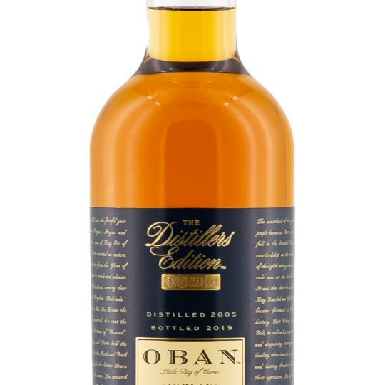 Personalised Oban Distillers Edition Whisky 70cl engraved bottle