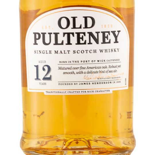 Personalised Old Pulteney 12 Year Old Whisky 70cl engraved bottle