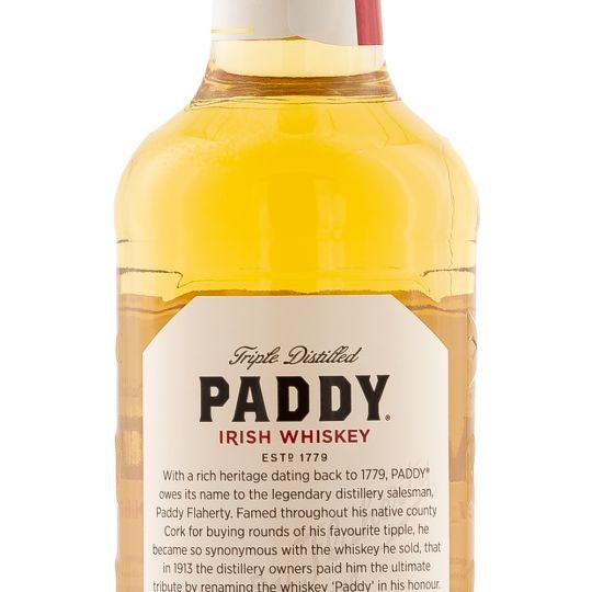 Personalised Paddy Irish Whiskey 70cl engraved bottle