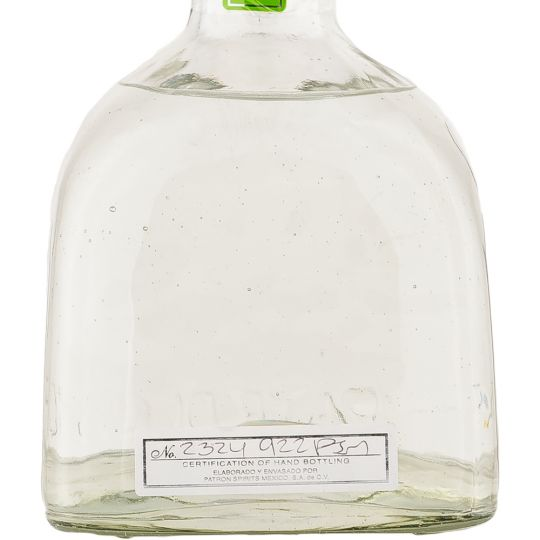 Personalised Patron Silver Tequila 70cl engraved bottle