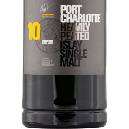 Personalised Port Charlotte 10 Year Old Whiskey 70cl engraved bottle