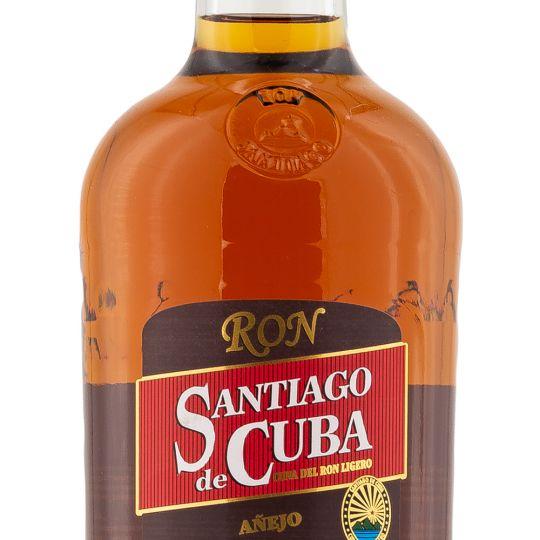 Personalised Santiago De Cuba Anejo 70cl Engraved Golden Rum engraved bottle