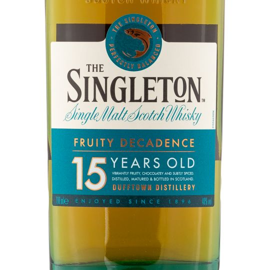 Personalised Singleton of Dufftown 15 Year Speyside 70cl Engraved Single Malt Whisky engraved bottle