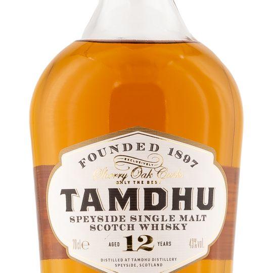 Personalised Tamdhu 12 Year Old Speyside 70cl Engraved Single Malt Whisky engraved bottle