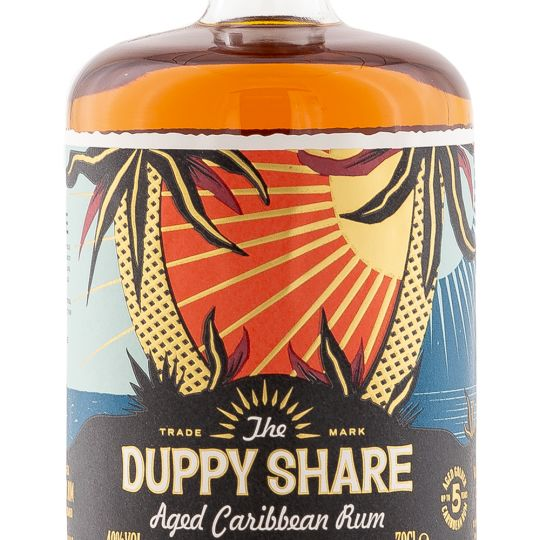 Personalised The Duppy Share Rum 70cl engraved bottle