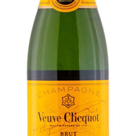 Personalised Veuve Clicquot Yellow Label Half Bottle 37.5cl Engraved Non-Vintage Champagne engraved bottle