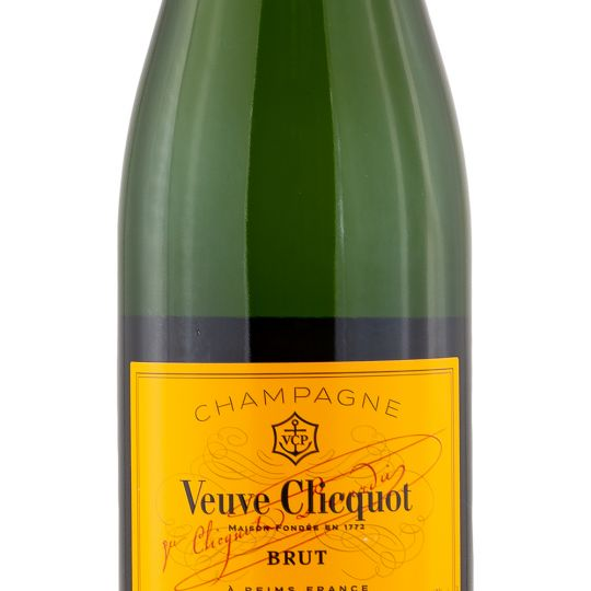 Personalised Veuve Clicquot Yellow Label NV Champagne 75cl engraved bottle
