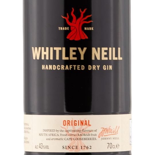 Personalised Whitley Neill Premium Gin 70cl engraved bottle