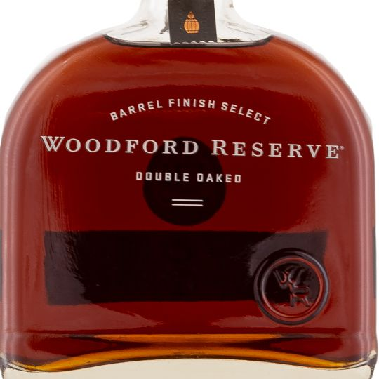 Personalised Woodford Reserve Double Oaked American Whiskey 70cl engraved bottle