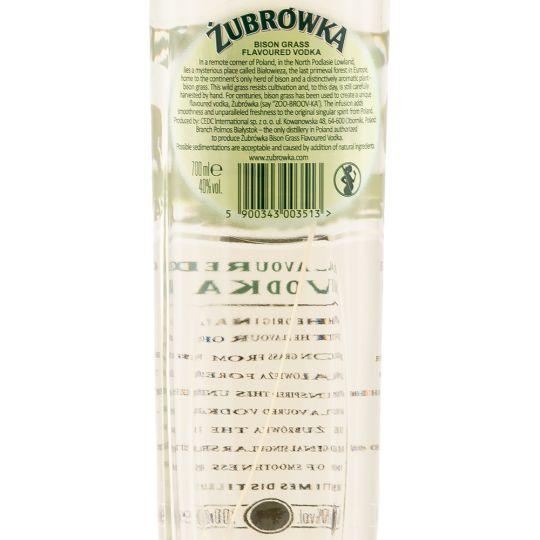 Personalised Zubrowka Bison Grass Vodka 70cl engraved bottle