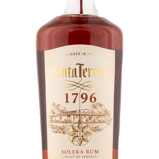 Personalised Santa Teresa 1796 Rum 70cl Engraved Golden Rum engraved bottle
