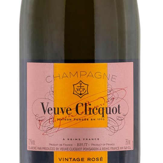 Personalised Veuve Clicquot Vintage Rose 75cl Champagne engraved bottle