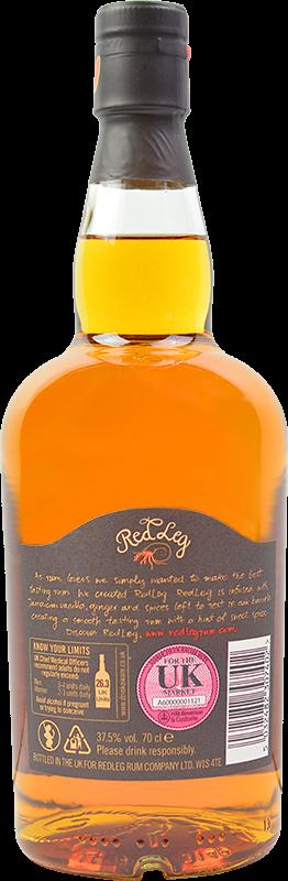 Personalised RedLeg Spiced Rum 70cl engraved bottle
