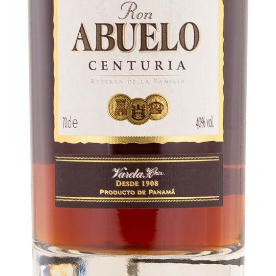 Personalised Ron Abuelo Centuria Rum Reserva De La Familia 70cl Engraved Golden Rum engraved bottle