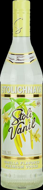 Personalised Stolichnaya Vanilla Vodka 70cl engraved bottle