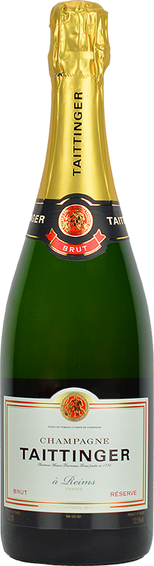 Personalised Taittinger Brut Reserve Champagne 75cl engraved bottle