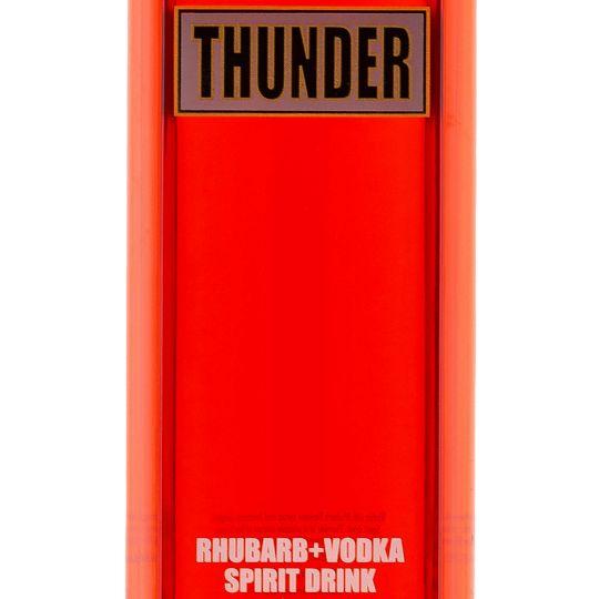 Personalised Thunder Rhubarb and Ginger Vodka Liqueur 70cl Engraved Flavoured Vodka engraved bottle