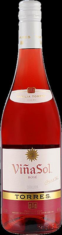 Personalised Torres Vina Sol Rose Catalunya Wine 75cl engraved bottle