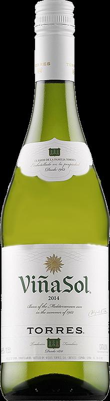 Personalised Torres Vina Sol White Wine 75cl engraved bottle