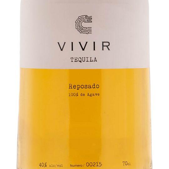 Personalised Vivir Tequila Reposado 70cl Engraved Reposado Tequila engraved bottle